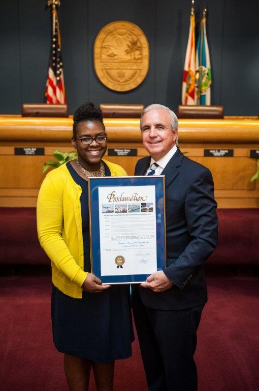 Mayor Carlos A. Gimenez participating in Mayors Day of Recognition for National Service in Miami-Dade, FL on April 1, 2014.Corporation for National and Community Service Photo.