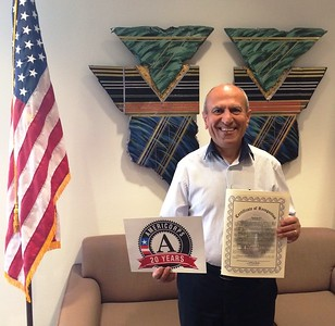 Mayor Sam Abed participating in Mayors Day of Recognition for National Service in Escondido, CA on April 1, 2014.Corporation for National and Community Service Photo.