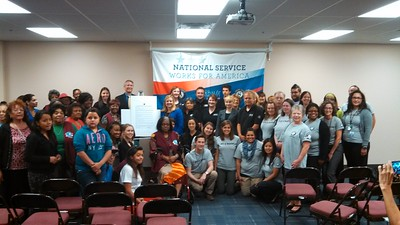 National service members participating in Mayors Day of Recognition for National Service in Phoenix, AZ on April 1, 2014.Corporation for National and Community Service Photo.