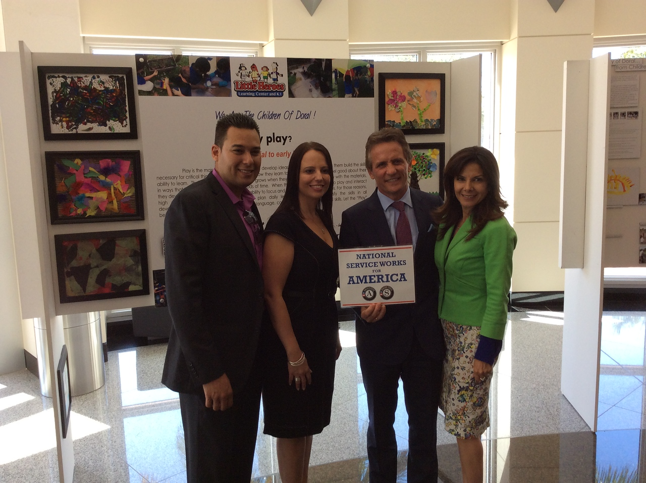 Mayor Luigi Boria and staff participating in Mayors Day of Recognition for National Service in Doral, FL on April 1, 2014. Corporation for National and Community Service Photo.