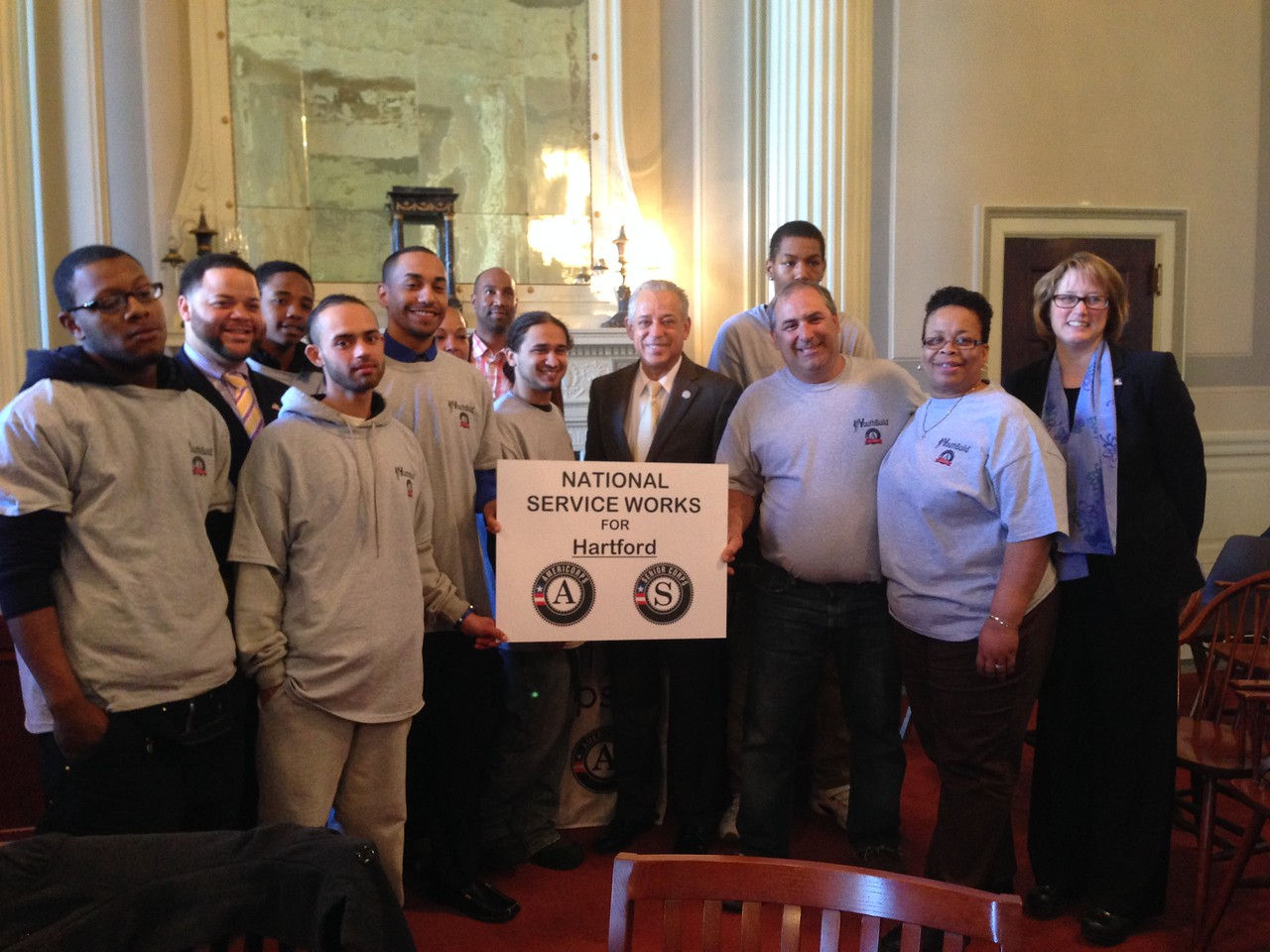 AmeriCorps members participating in Mayors Day of Recognition for National Service in Hartford, CT on April 1, 2014. Corporation for National and Community Service Photo.
