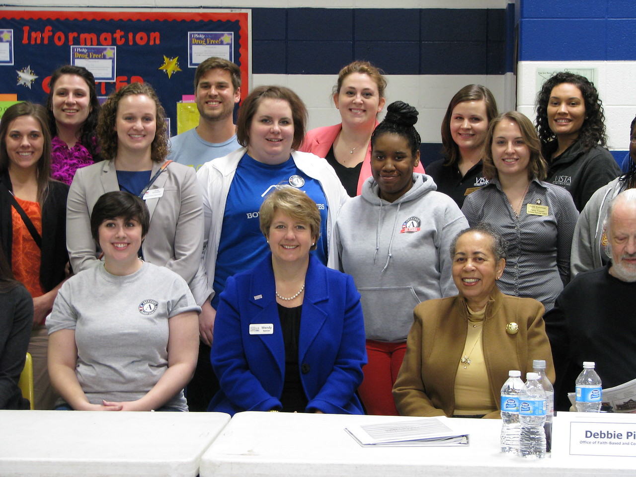 CNCS CEO Wendy Spencer flanked by national service participants in Indianapolis, IN for the Mayors Day of Recognition for National Service on April 1, 2014. Corporation for National and Community Service Photo.