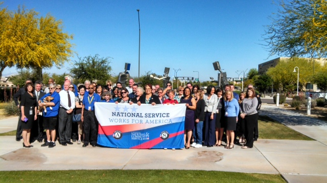 National service members participating in Mayors Day of Recognition for National Service in Avondale, AZ on April 1, 2014. Corporation for National and Community Service Photo.