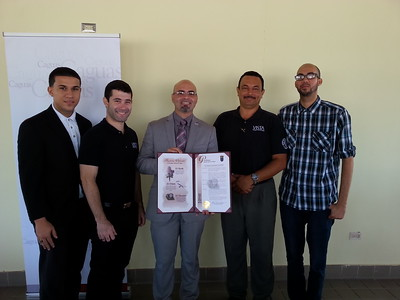 AmeriCorps VISTA members alongside officials in Caguas, Puerto Rico proclaiming April 1, 2014 - Mayors Day of Recognition for National Service Corporation for National and Community Service Photo.