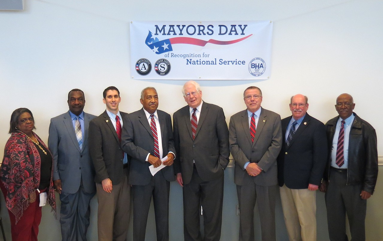 National service members participating in Mayors Day of Recognition for National Service in Burlington, NC on April 1, 2014. Corporation for National and Community Service Photo.