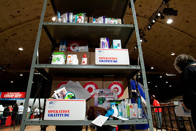 Supplies at the DC Armory - National Day of Service - MLK Day 2013. Corporation for National and Community Service Photo.