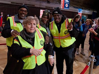 Senior Corps members in line to serve at the DC Armory - National Day of Service - MLK Day 2013. Corporation for National and Community Service Photo.