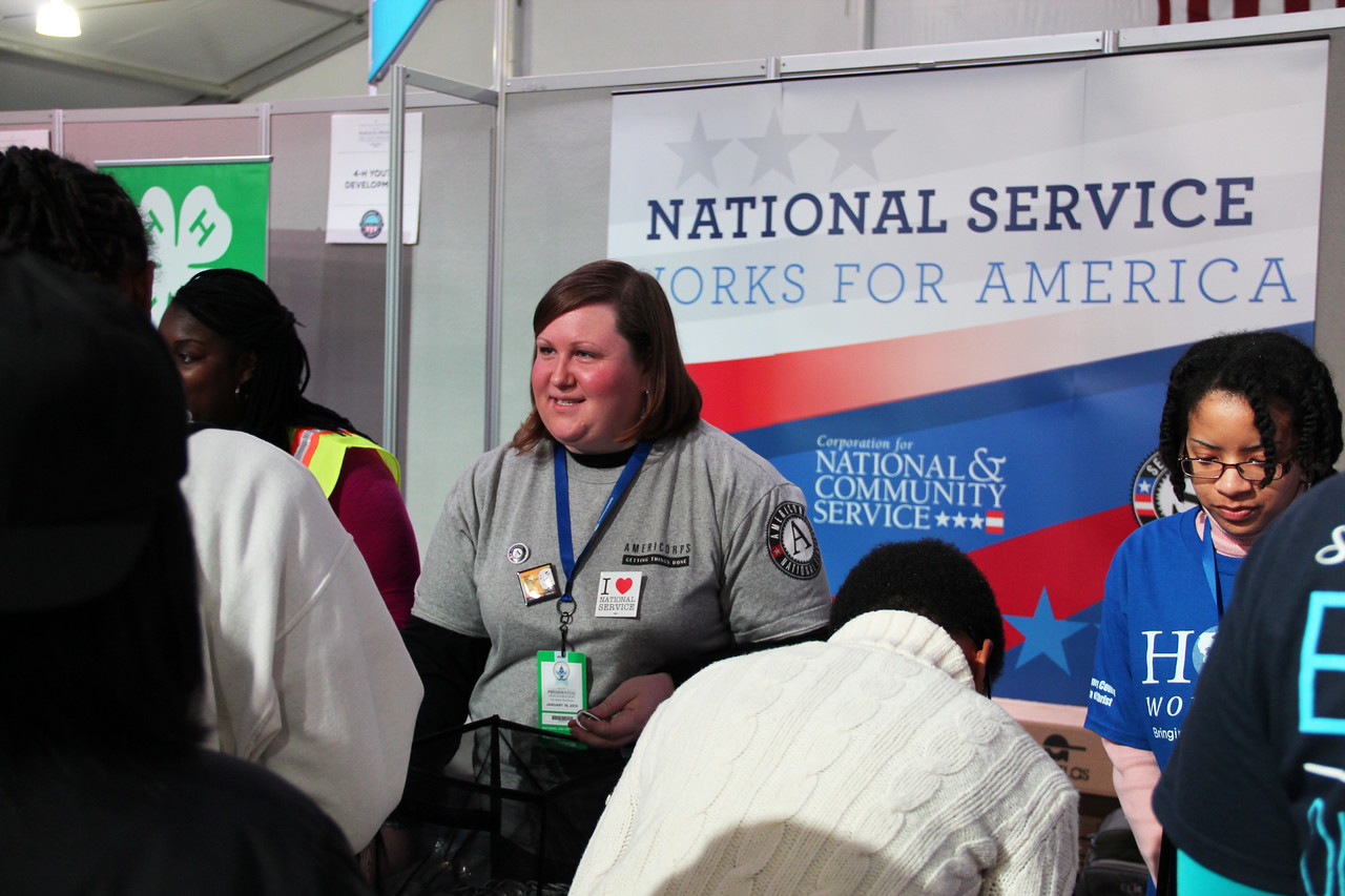 Service Fair at the National Mall - National Day of Service - MLK Day 2013. Corporation for National and Community Service Photo.