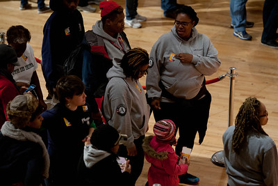 AmeriCorps members wait in line to serve. DC Armory - National Day of Service - MLK Day 2013.Corporation for National and Community Service Photo.