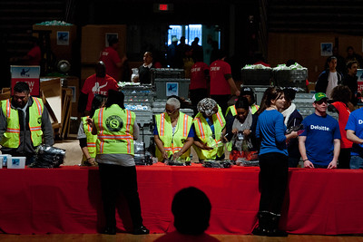 Senior Corps members assemble care kits. DC Armory - National Day of Service - MLK Day 2013.Corporation for National and Community Service Photo.