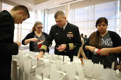 George Washington University sponsored Veterans Day service project packing care packages for service men and women abroad. Corporation for National and Community Service Photo.