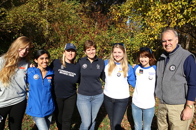 Director of AmeriCorps Bill basl with AmeriCorps State and VISTA members and Student Conservation Association (SCA) members serving at an SCA sponsored service project on Veterans Day in Washington, D.C. Corporation for National and Community Service Photo.