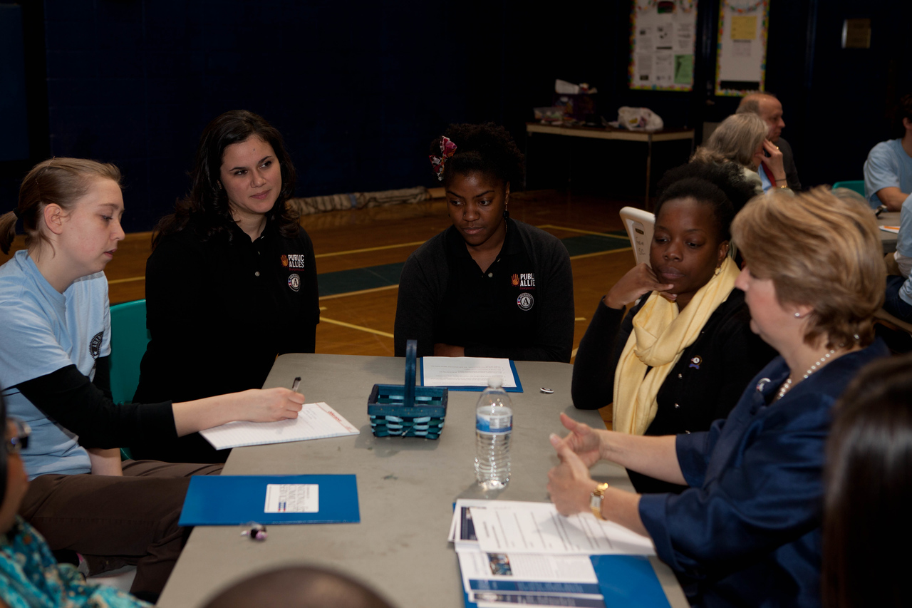 CNCS, CEO, Wendy Spencer participates during breakout meetings at the Boys and Girls Club in Wilmington, DE. Corporation for National and Community Service Photo.