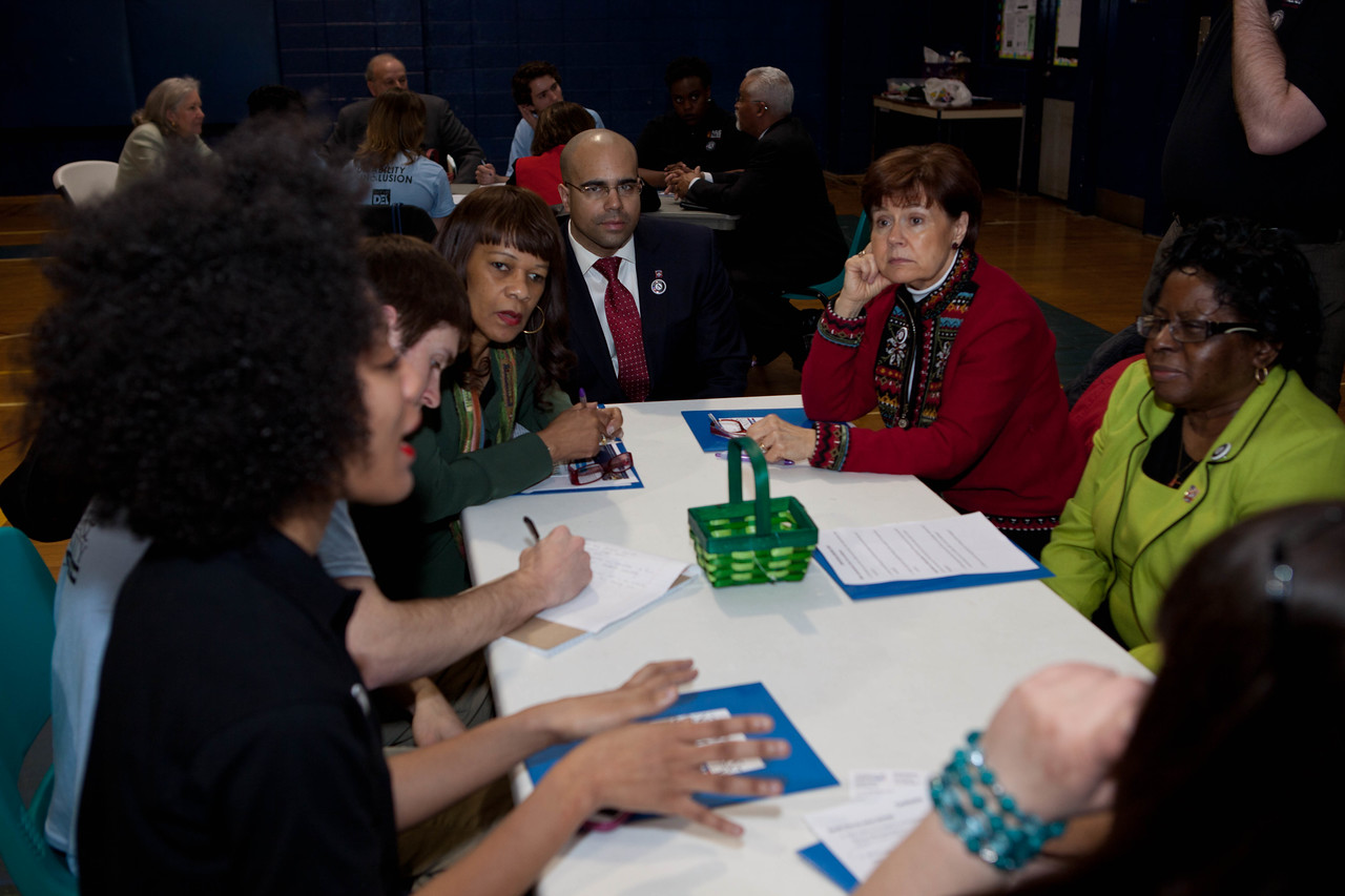 Breakout meetings at the Boys and Girls Club in Wilmington, DE. Corporation for National and Community Service Photo.