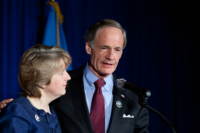 CNCS, CEO, Wendy Spencer and Sen. Tom Carper (DE). Corporation for National and Community Service Photo.