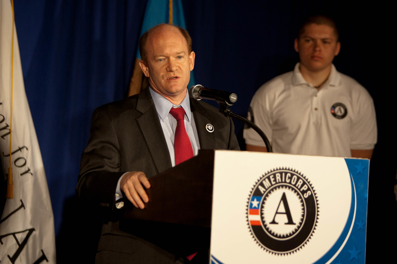 Sen. Chris Coons (DE). Corporation for National and Community Service Photo.