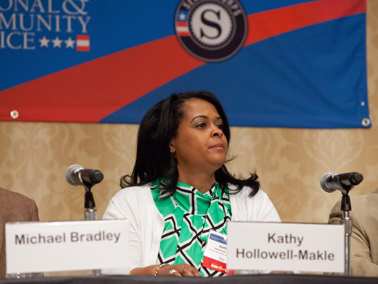 TFA AmeriCorps Alumni and Teacher of the Year Kathy Hollowell-Makle participated on the panel of the 2014 Education Symposium. Corporation for National and Community Service Photo.