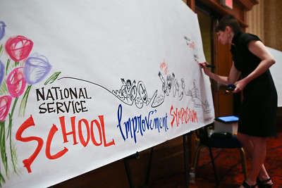 Visual Facilitator during the 2014 Education Symposium. Corporation for National and Community Service Photo.