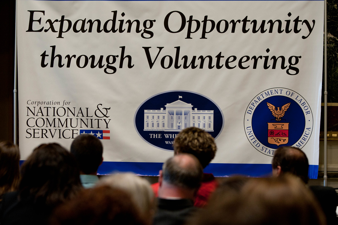 White House Convening on Expanding Opportunity Through Volunteering April 2012. Corporation of National and Community Service Photo.