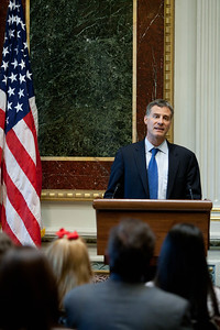 Chairman of the Council of Economic Advisers, Alan Krueger. White House Convening on Expanding Opportunity Through Volunteering held in the Indian Treaty Room, Eisenhower Executive Office Buiding on Thursday April 19, 2012. Corporation for National and Community Service Photo.