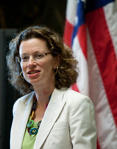 CEO of Points of Light, Michelle Nunn. White House Convening on Expanding Opportunity Through Volunteering held in the Indian Treaty Room, Eisenhower Executive Office Buiding on Thursday April 19, 2012. Corporation of National and Community Service Photo.