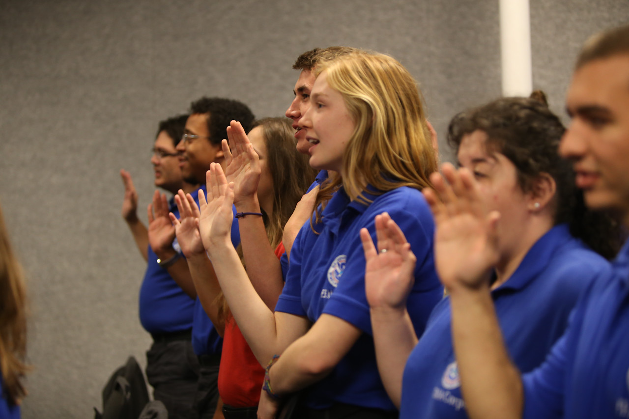 FEMA Corps members recite the AmeriCorps pledge at graduation in Sacramento, CA. Corporation for National and Community Service Photo.