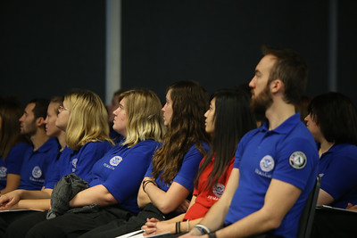 FEMA Corps graduates listening to speakers during graduation. Corporation for National and Community Service Photo.