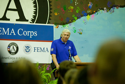 FEMA Deputy Administrator, Richard Serino addresses the inductees. Corporation for National and Community Service Photo.