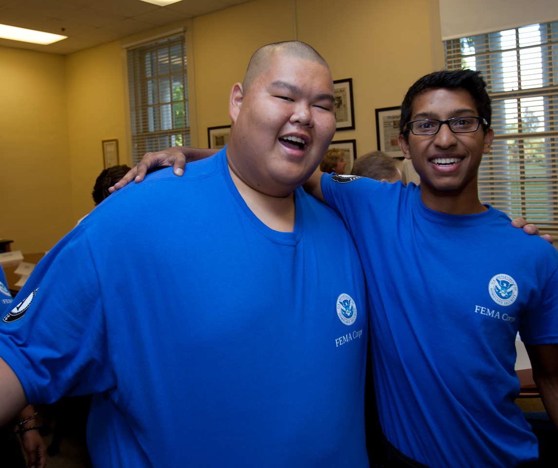 FEMA Corps members, Thomas Sasamoto and Ashvin Mehra. Corporation for National and Community Service Photo.