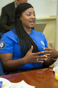 FEMA Corps member, Donisha Brown explains what inspired her to join. Corporation for National and Community Service Photo.