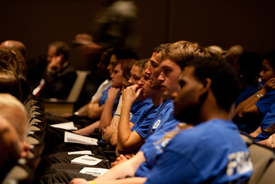 FEMA Corps members during induction. Corporation for National and Community Service Photo.