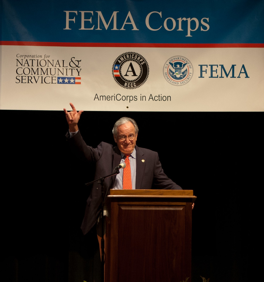 Sen. Tom Harkin (IA). Corporation for National and Community Service Photo.