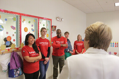Jumpstart's ninth annual Read for the Record campaign at the Barbara Chamber Children's Center in Washington, D.C. Corporation for National and Community Service Photo.