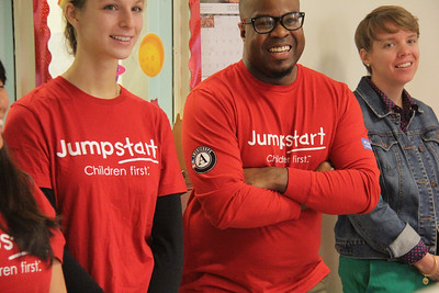 AmeriCorps members at Jumpstart's ninth annual Read for the Record campaign at the Barbara Chamber Children's Center in Washington, D.C. Corporation for National and Community Service Photo.