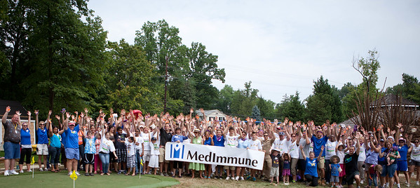Volunteers at the NIH KaBOOM! build for The Children's Inn. Corporation for National and Community Service Photo.