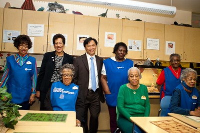 Foster Grandparents, Program Director, Cheryl Christmas and Director of Senior Corps, Dr. Erwin Tan. Corporation for National and Community Service Photo.