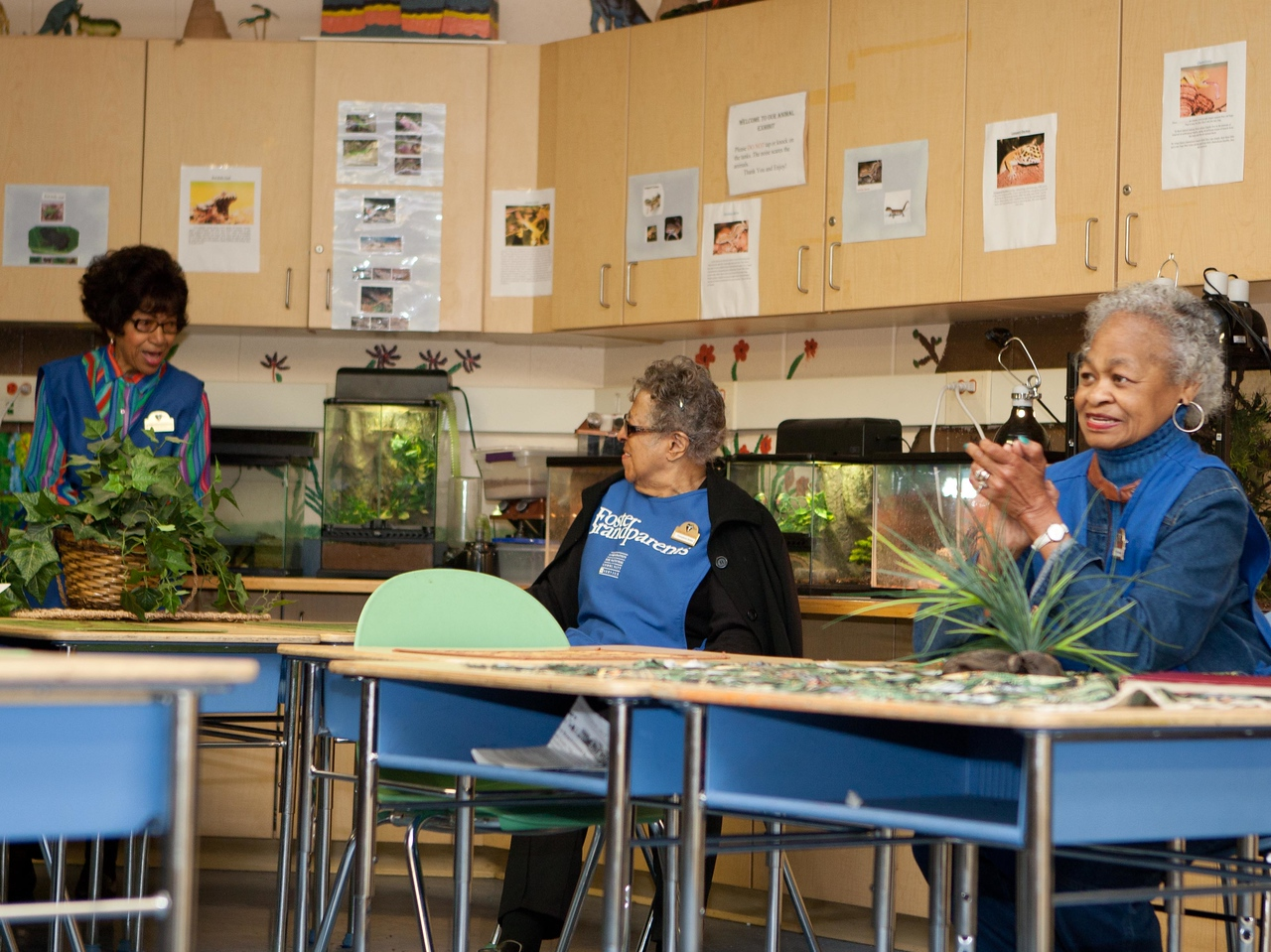 Foster Grandparents at Miner Elementary School in Washington, D.C. Corporation for National and Community Service Photo.
