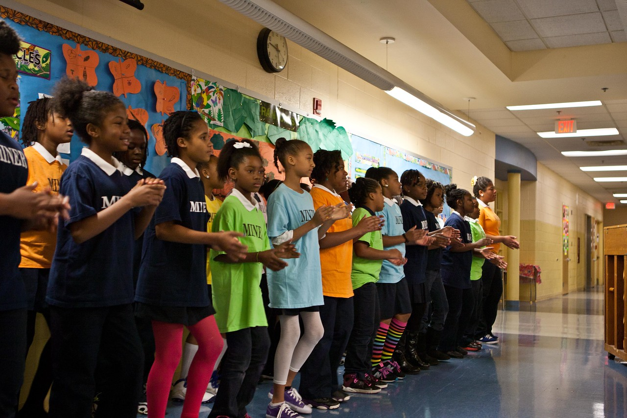 Students welcome Director of Senior Corps, Dr. Erwin Tan and Foster Grandparents in song. Corporation for National and Community Service Photo.