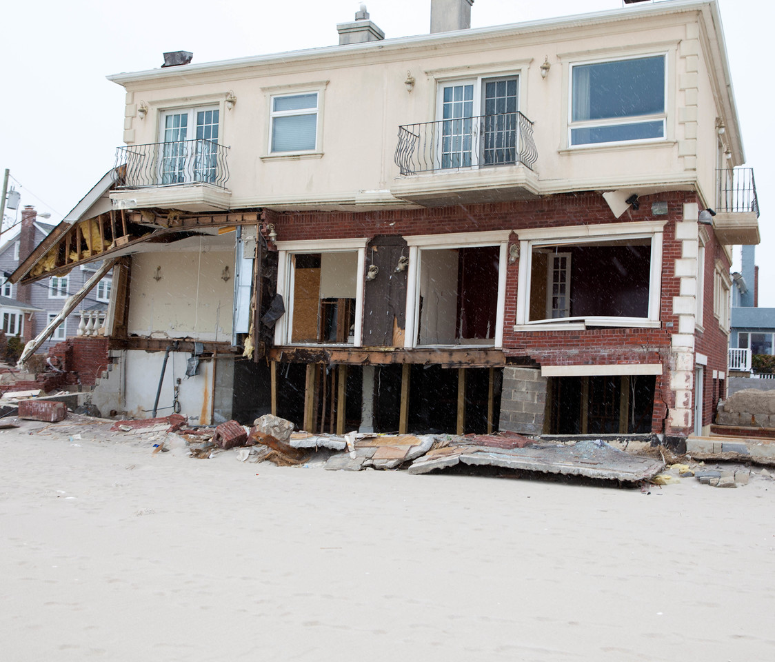 Home affected by Hurricane Sandy at Rockaway Beach, NY. Corporation for National and Community Service Photo.