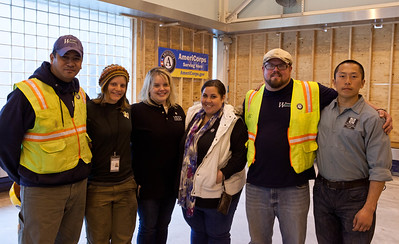AmeriCorps members from the Washington Conservation Corps with New Jersey State Director, Erin McGrath. Corporation for National and Community Service Photo.