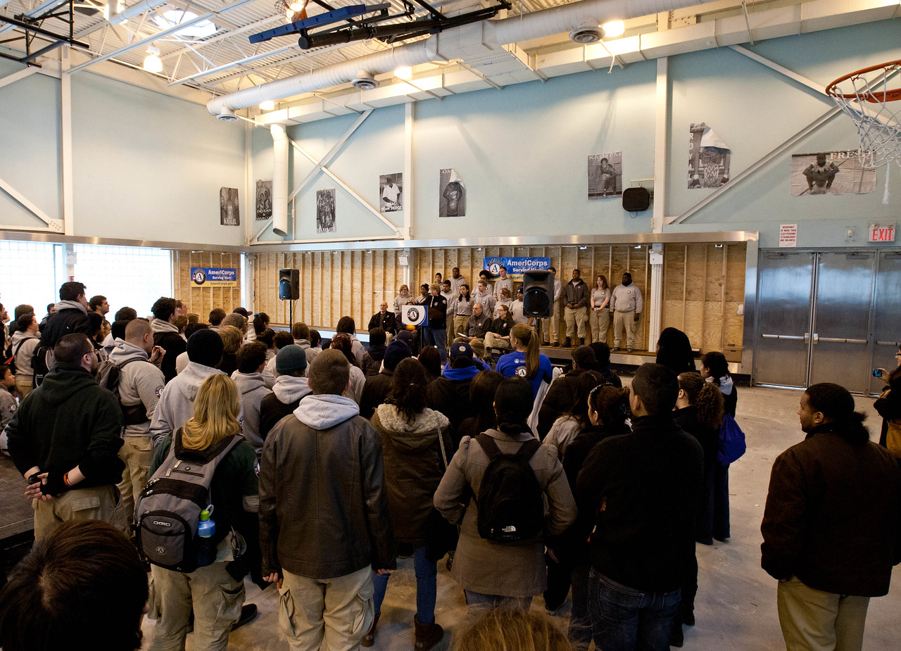 Kick-off event at Hammel House community center in Rockaway, NY. Corporation for National and Community Service Photo.