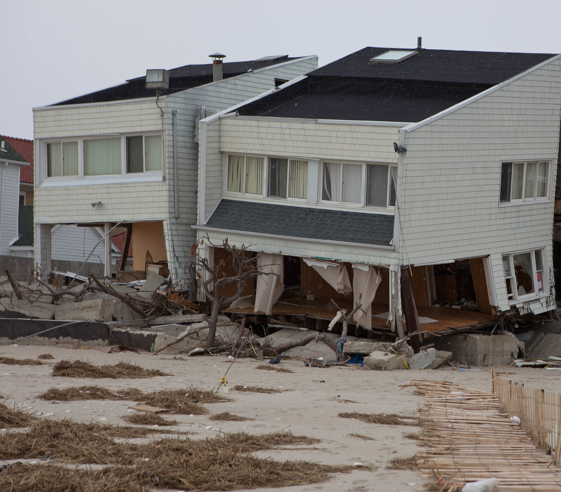 Homes affected by Hurricane Sandy at Rockaway Beach, NY. Corporation for National and Community Service Photo.