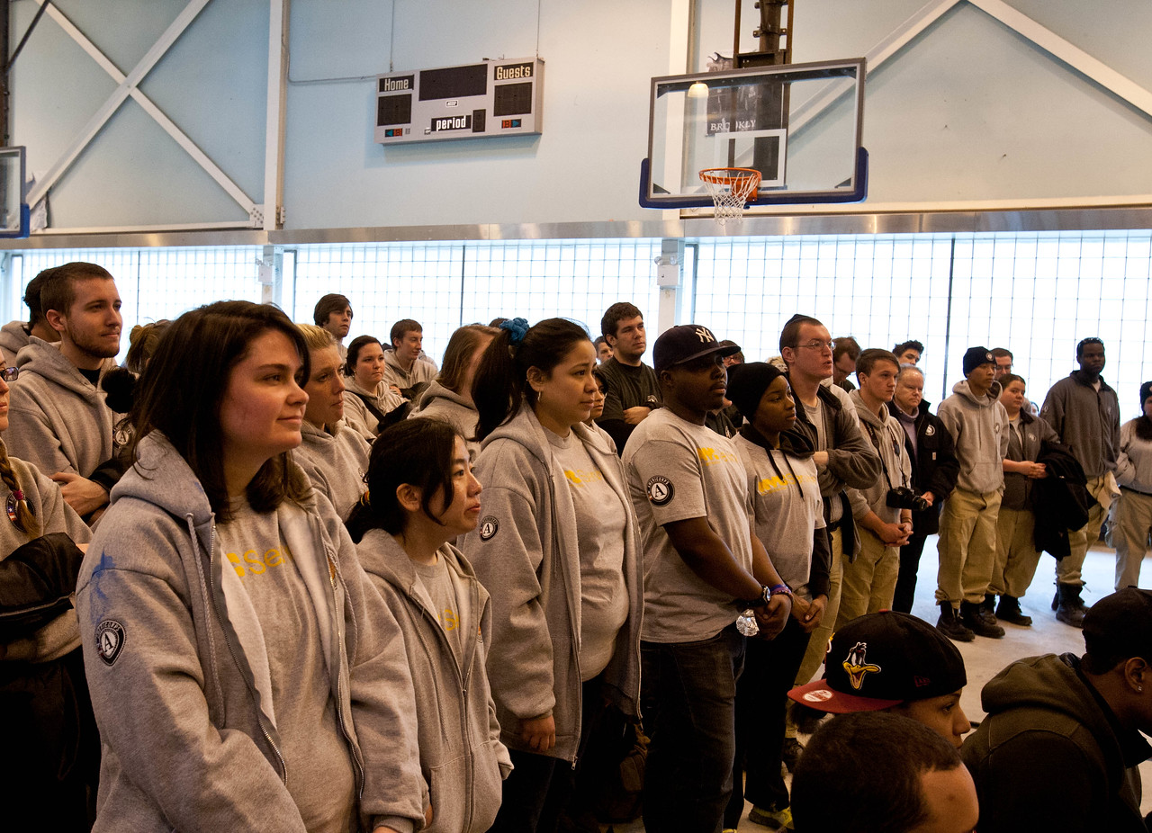 AmeriCorps members listening to speakers at kick-off. Corporation for National and Community Service Photo.