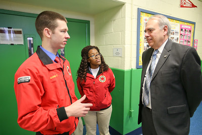 Director of AmeriCorps Bill Basl speaks with AmeriCorps City Year members at DC Scholars Stanton Elementary in Washington, D.C. Corporation for National and Community Service photo