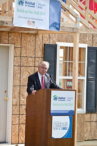 Closing ceremony. Doug Harper, Corporate Development Director at Habitat for Humanity International Veterans Build on the Mall 2013. Corporation for National and Community Service Photo.