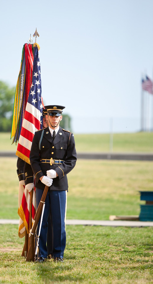 Color Guard. Veterans Build on the Mall 2013. Corporation for National and Community Service Photo.