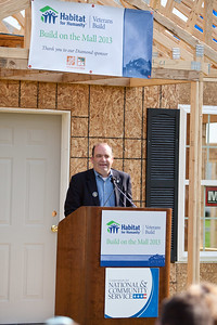 Christopher Ptomey, Director of Federal Relations, Habitat for Humanity International. Veterans Build on the Mall 2013. Corporation for National and Community Service Photo.