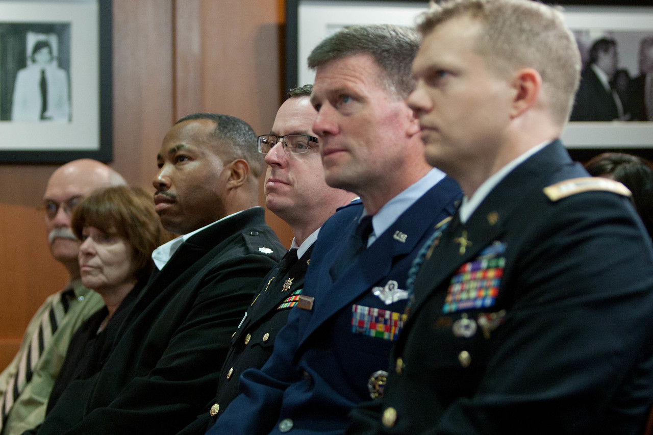 Military members at VetCorps Launch with CADCA and The National Guard. Corporation for National and Community Service Photo.