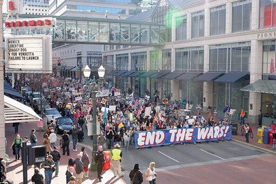 March through downtown Portland