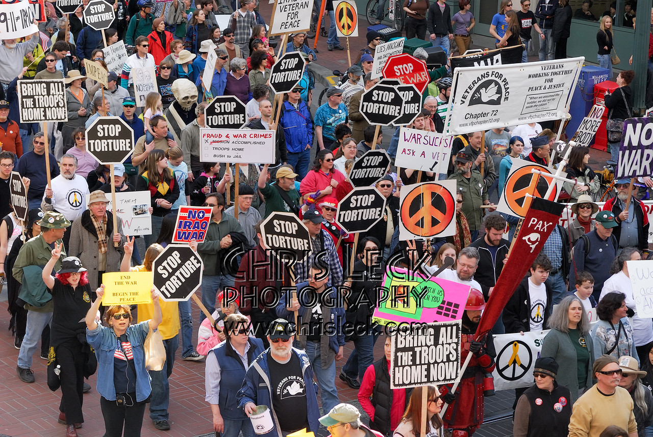 March through downtown Portland